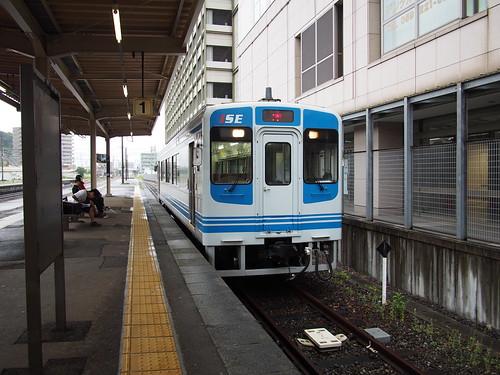 ローカル線で鈴鹿サーキット最寄り駅まで。