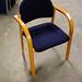Wood blue chair