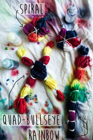 how to tie dye // the little red house