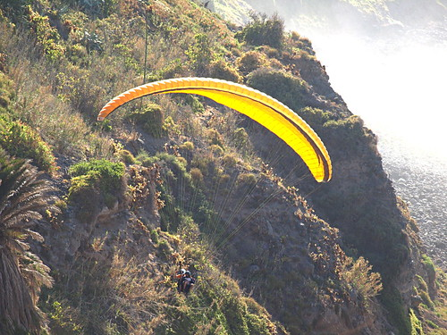 Tandem paragliding on Tenerife