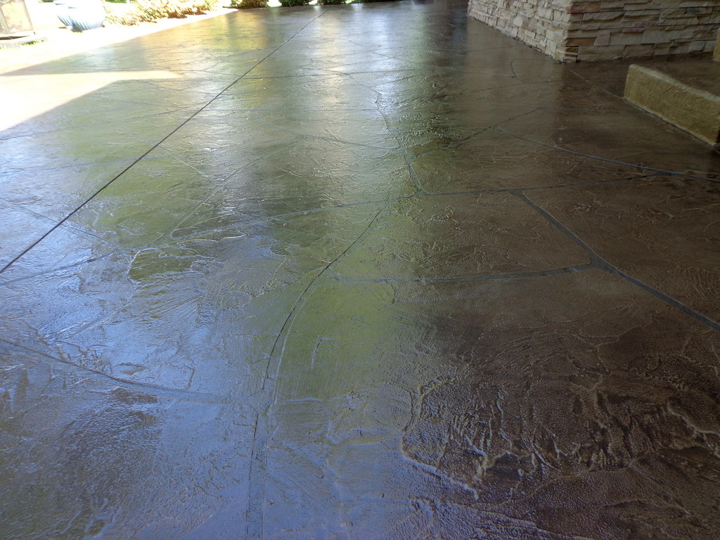 Concrete Patio Staining - Fort Wayne IN