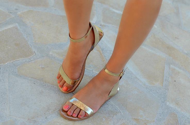DSC_2880 ZARA gold sandals 2