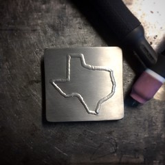 Deep in the heart of Texas. Stainless belt buckle. #browndogwelding #weldporn #millerwelders #texas