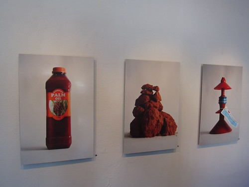 Linda Karin Larsen: Red Palm Oil + Red Earth + Red Drill PIpe