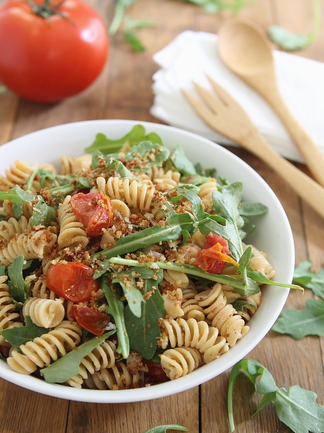 Cream cheese BLT pasta salad