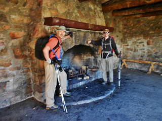 Andreas and Bobby in Notch Mountain Shelter