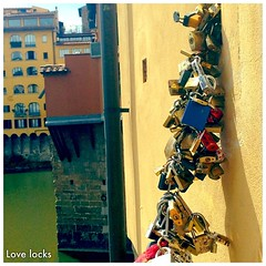 #Love is in the locks. #italy #florence #tuscany