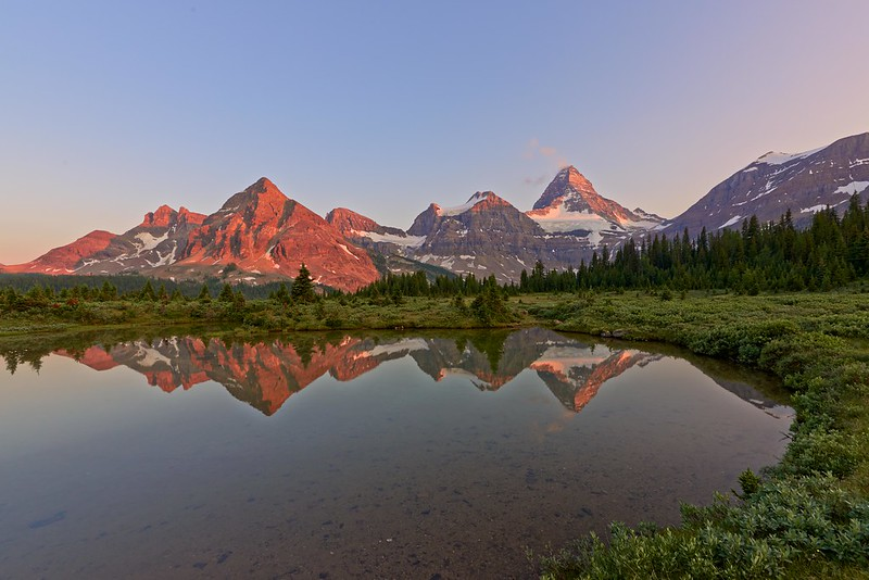 Sunset Mount Assiniboine - Mount Assiniboine Provincial Park