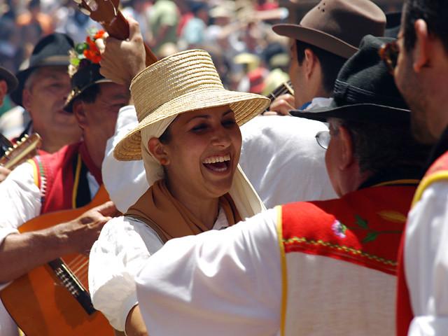 Canarian woman at a Fiesta, La Orotava, Tenerife