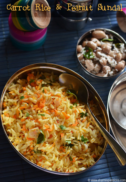 Carrot Rice Peanut Sundal