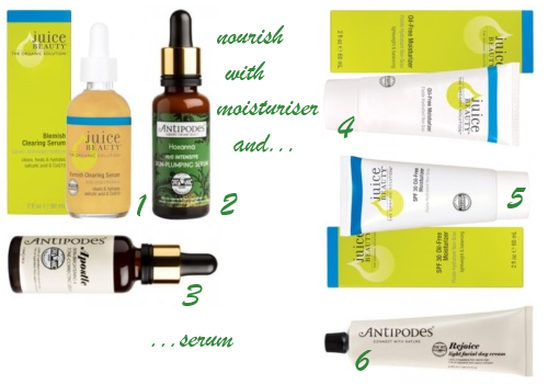Juice Beauty and Antipodes for Combination Acne Prone Skin