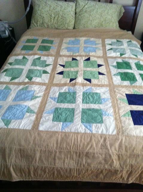 Block Star quilt, for Wellspring
