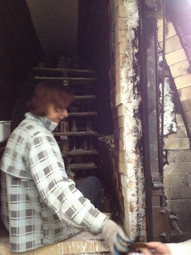 emptying the kiln