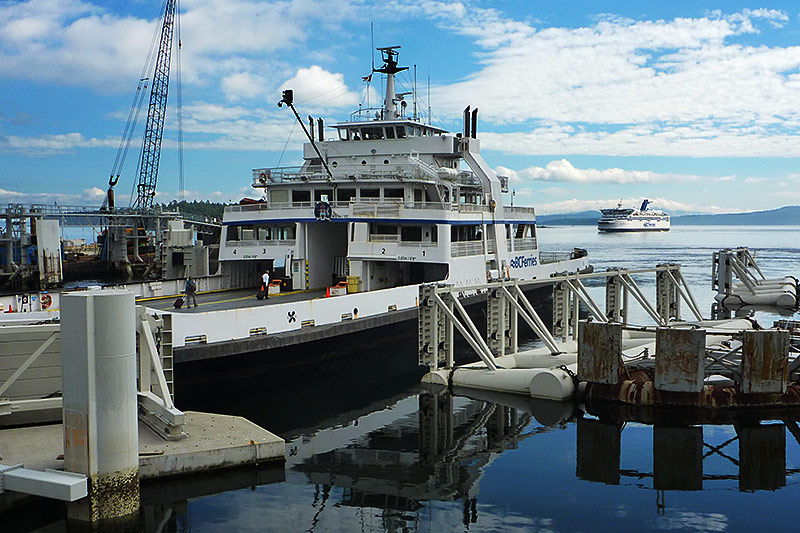 Gulf Islands ferry at Swartz Bay Ferry Terminal, Greater Victoria, Vancouver Island, British Columbia