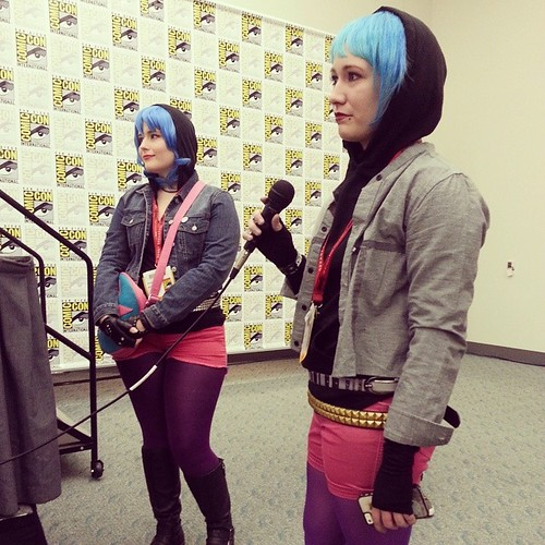 Another #SDCC highlight - I got to man the mic for Q&A during @radiomaru's panel!    Almost everyone was respectful/good at asking questions, but one dude tried to ask two questions, then didn't have q second one ready. C'mon dude!