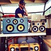 DJ CaveMan Lawyer starting out the weekend right with a Boat Load of Beats in Vancouver (@nsellyn) - #BoomCase #boatloadofbeats - the two larger cases are custom ones from early 2011 and the snake custom from 2013 - thanks for the continued support! #djca