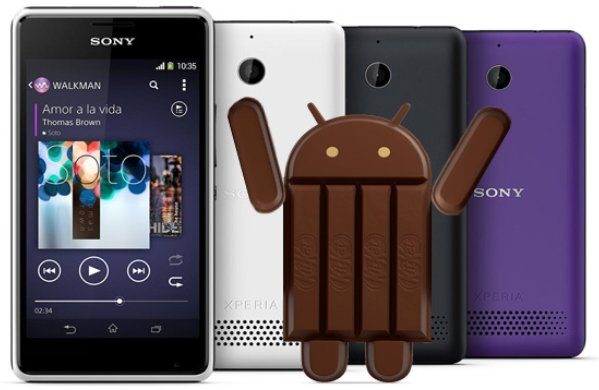 Android 4.4 для Xperia E1