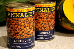 Two 400g tins of lentils