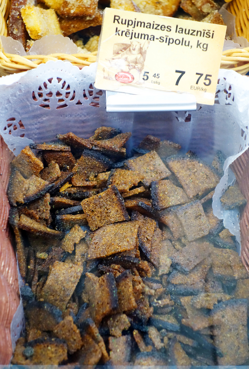 Riga Central Market black bread chips