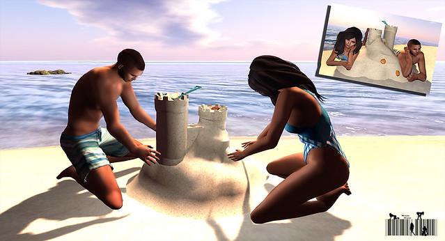 Love sandcastle