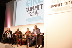 A panel at the Girl Summit Right to left: Demeke Mekonnen, Deputy Prime Minister, Ethiopia. Hina Jilani, Pakistan. Dr. Mustapha S. Kaloko, Commissioner for Social Affairs. Tony Lake, UNICEF Executive Director
