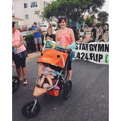 Ready to roll with #fit4mom in the IB Sun & Sea Festival parade! #imperialbeach #strollerstrides