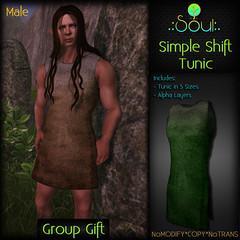 2014 Simple Shift Tunic GroupGift Male