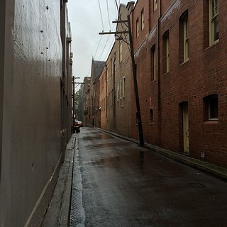 Surry Hills lanes in the rain 3