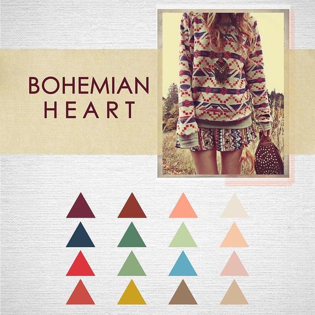 Bohemian Heart -- colorway hint!