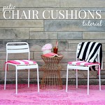 how to make diy patio chair cushions via Kristina J blog