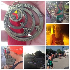 My beautiful wife competed in her first sprint triathlon this morning! Beating her goal time and finishing the race, I couldn't be more proud of all that she accomplished. She's an everyday inspiration to me to achieve my own goals!