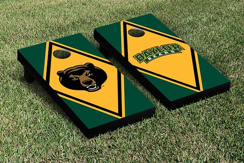 Baylor Bears Cornhole Game Set Diamond Alternating Version