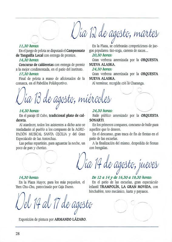 Programa Fiestas de San Lorenzo Año 2003