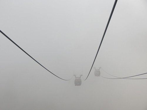 Taking the ropeway
