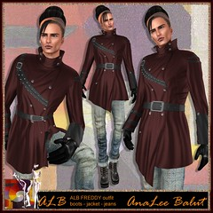 ALB FREDDY outfit boots - jacket - jeans by AnaLee Balut