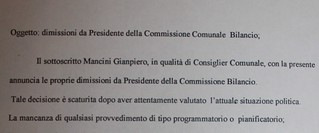 dimissioni gianpiero commissione bilancio