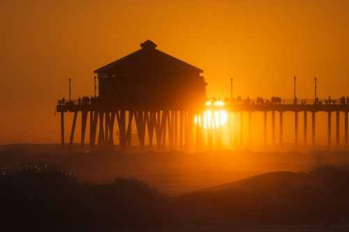 Huntington Beach Trip - Aug 2014 - Sunset!