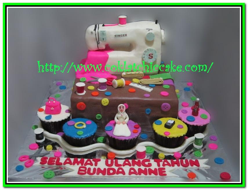 Kue ulang tahun mesin jahit