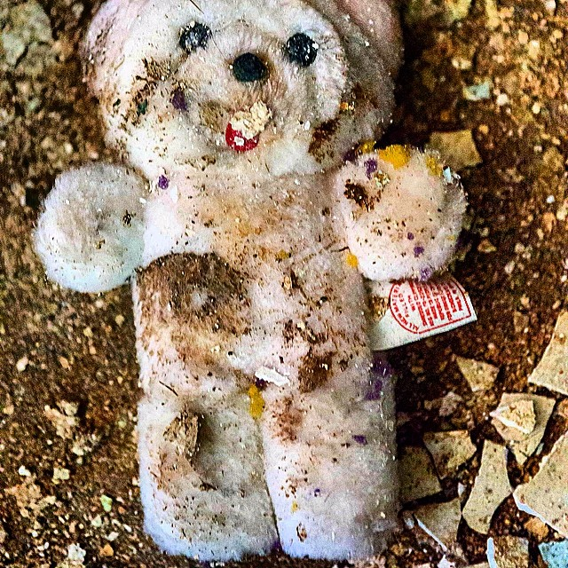 Poor #abandoned #teddybear found in an old #school in #flint while shooting a #king810 #video. He is prolly still there. #ruinporn