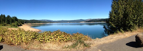 Hagg Lake panorama, south side, just before the dam