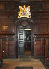 vestry door and Stuart royal arms