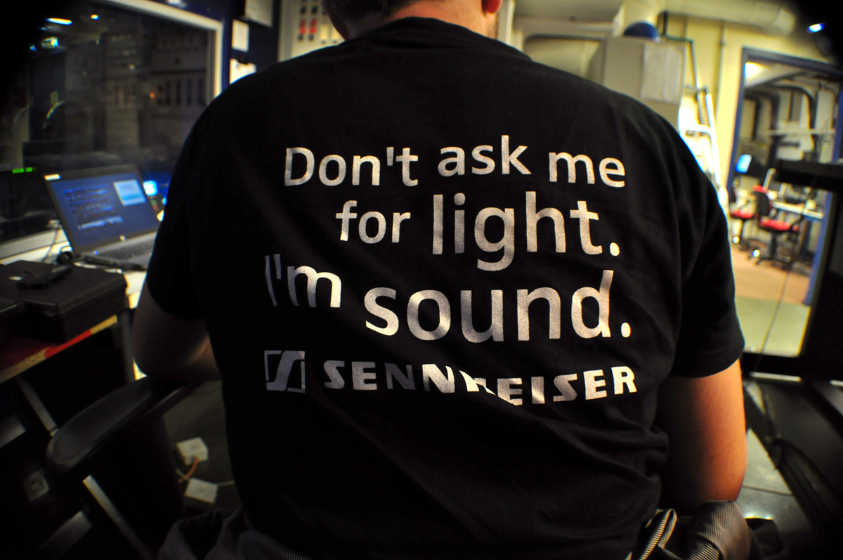 Don't ask me for light. I'm sound