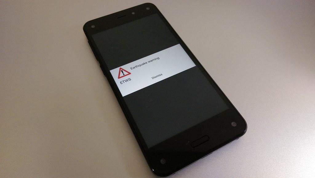 ETWS on Amazon Fire Phone 2