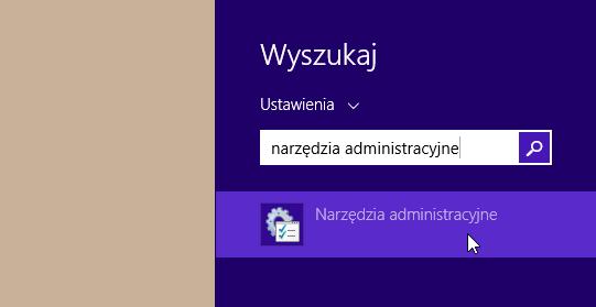Uruchamianie narzędzi administracyjnych