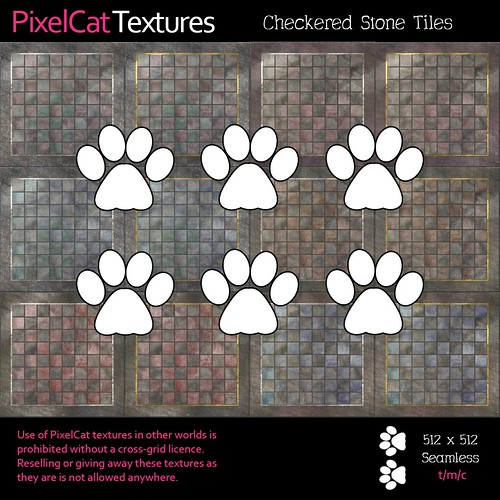 PixelCat Textures - Checkered Stone Tiles
