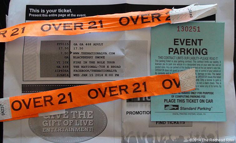 Blackberry Smoke Southern Rock Concert, Richmond, Virginia tickets 2014-01-15 DSC01415