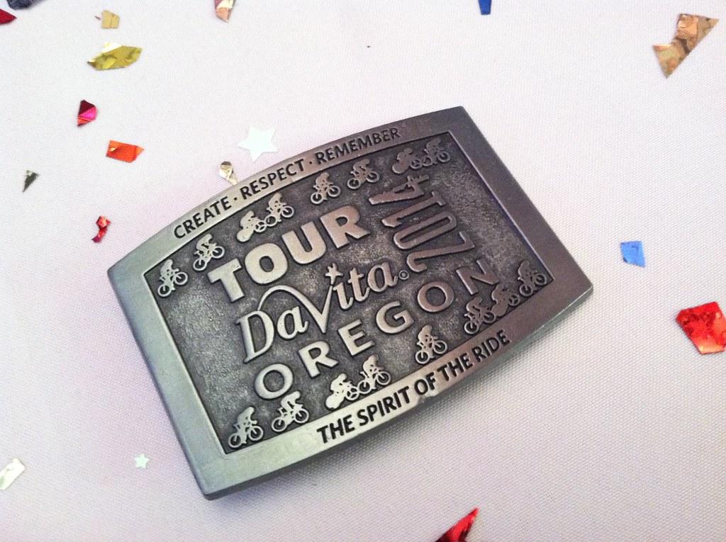 The journey of a running green girl the green girls tour davita tour davita finishers buckle sciox Gallery