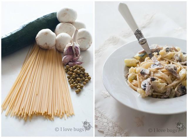 Pasta con verduras 1 Collage