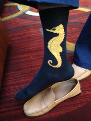 TypeCon 2014: David Sudweeks, always stylish. Seahorse socks!