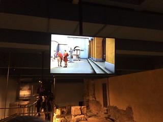 Roman Baths digital screen